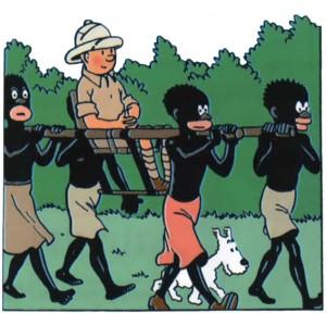 Gelukkig genieten dit soort beelden uit het coloniale verleden nog maar weinig sympathie...