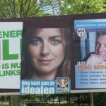'Partijen' huren meestal de zelfde bedrijven in om hun 'merk' te promoten als verkopers van wasmiddelen en auto's.